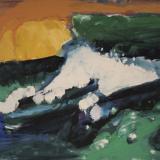 'Feuer u. Wasser 1' 2007 - Tempera - B|H: 58|42 cm