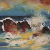'Feuer u. Wasser 3' 2007 - Aquarell, Tempera - B|H: 64,5|50 cm