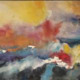 'Feuer u. Wasser 4' 2007 - Aquarell, Tempera - B|H: 61,5|48 cm