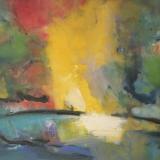 'Feuer u. Wasser 5' 2007 - Aquarell, Tempera - B|H: 61,5|48 cm