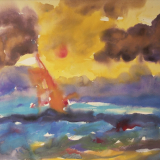 'Feuer u. Wasser 7' 2007 - Aquarell, Tempera - B|H: 61,5|48 cm