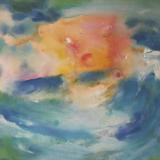 'Feuer u. Wasser 8' 2007 - Aquarell, Tempera - B|H: 65|48 cm