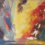 'Feuer u. Wasser 9' 2007 - Aquarell - B|H: 61,5|48 cm