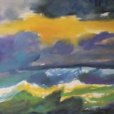 'Feuer u. Wasser 10' 2007 - Aquarell,Tempera - B|H: 64|50 cm