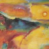 'Feuer u. Wasser 11' 2007 - Aquarell, Tempera - B|H: 65,5|47,5 cm