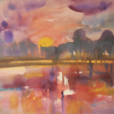'Feuer u. Wasser 12' 2007 - Aquarell - B|H: 61,5|48,5 cm