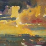 'Feuer u. Wasser 13' 2007 - Aquarell, Tempera - B|H: 61,5|48,5 cm
