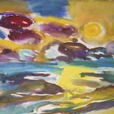 'Feuer u. Wasser 14' 2007 - Aquarell, Tempera - B|H: 58|42 cm
