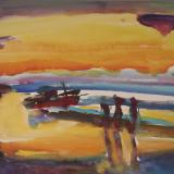 'Feuer u. Wasser 16'  2007 - Aquarell, Tempera  - B|H: 58|42 cm