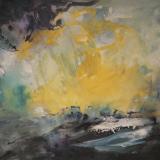'Feuer u. Wasser 17'  2007 -  Aquarell, Tempera -  B|H: 50|35 cm