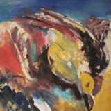 'Strandgut 2'  2007  - Tempera  - B|H: 65,5|50 cm