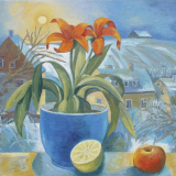 'Wintersonne u. Amaryllis'  2012 - Öl auf Hartfaser - B|H: 84|59 cm