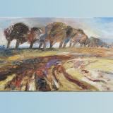 'Späte Landschaft' 2005 - Öl auf Leinewand - B|H: 70|30 cm