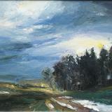 'Der dunkle Tag' 2008 - Öl auf Leinewand - B|H: 50|40 cm