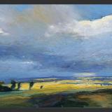 'Aufziehendes Gewitter' 2007 - Öl auf Hartfaser - B|H: 59,5|38,5 cm