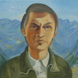 'Selbst vor Bergkulisse'  2011 - Öl auf Leinewand - B|H: 60|50 cm