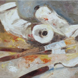 'Malzeug' 2009 - Öl auf Leinewand - B|H: 40|30 cm