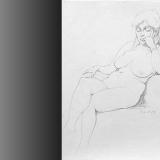 'Verträumt' 1996 - Bleistift - B H: 45 57 cm