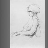 'Halbakt I' 2000 - Bleistift - B H: 30 40 cm