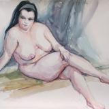 'Entspannt' 2004 - Aquarell - B H: 65 55 cm