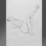 'Erhobener Fuß' 2008 - Bleistift - B H: 40 55 cm