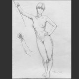 'Aktstudie' 2009 - Bleistift - B H: 45 60 cm