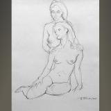 'Doppelakt' 2008 - Bleistift - B H: 40 50 cm