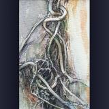 'Verflochtenes' 2009 - Aquarell - B H:  9 13 cm