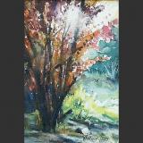 'Gartenstück' 2009 - Aquarell - B H:  9 13 cm