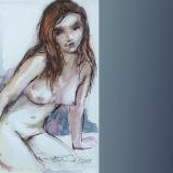 'Mädchen' 2009 - Aquarell - B H:  9 13 cm