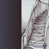 'Schlosstreppe' 2009 - Aquarell - B H:  9 13 cm