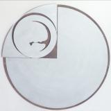 'Sonnenscheibe' 2001 - Metall/Holz gesägt - Durchmesser: ca. 120 cm