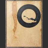 'Teufelskreis' 2003 - Holz bemalt - B|H: 100|50 cm