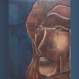 'Portrait' 2013 - Holz gesägt/geschliffen - B|H: 30|50 cm