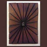 'Zusammenkunft' 2009 - Holz gesägt/genagelt - B|H: 30|50 cm
