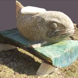 'Forelle' 2012 - Holz behauen/geschliffen - B|H|T: 120|60|60 cm