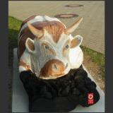 'Kuh' 2013 - Holz gesägt - B|H|T: 250|100|80 cm