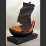 'Kogge' 1998 - Holz behauen - B|H|T: 60|60|70 cm
