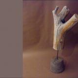 'Im Geäst' 2013 - Holz geschliffen - B|H|T: 70|20|20 cm