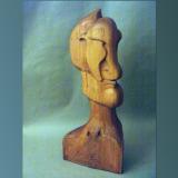 'Portrait' 1998 - Holz behauen/geschliffen - B|H|T: 100|20|20 cm