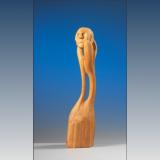 'Gedankenstütze' 1998 - Holz geschnitzt - B|H|T: 40|10|10 cm