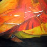 'Flamenco 1' 2010 - Acryl - B|H: 100x80cm