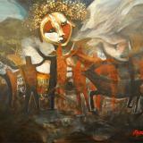 'Origenes 1' 2016 - Acryl - B|H: 100x80cm