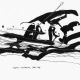 'Männer markieren ihren Weg' 2009 - Tuschezeichnung - B|H: 24|32 cm