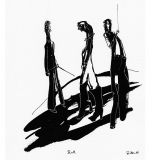 'Duell' 2009 - Tuschezeichnung - B|H: 24|32 cm