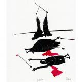 'Gefecht' 2009 - Tuschezeichnung - B|H: 24|32 cm