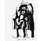 'Eitle Ritter ohne Pferd' 2009 - Tuschezeichnung - B|H: 24|32 cm