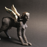 'Sphinx (Variante II)' 2008 - Rakukeramik - H: 16 cm