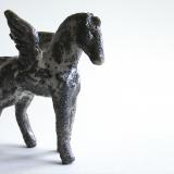 'Pegasos' 2007 - Rakukeramik - H: 11,5 cm