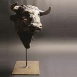 'Minotaurus (Porträt)' 2008 - Keramik - H: 34 cm